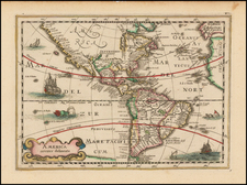 South America and America Map By Johannes Cloppenburg