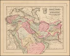 Map of Persia, Turkey in Asia, Afghanistan, Beloochistan By Samuel Augustus Mitchell Jr.