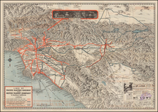 California Map By Pacific Electric Railway / Gerald A. Eddy