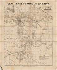 South, Virginia and Civil War Map By J.H. Bufford