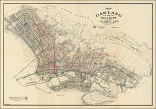California and San Francisco & Bay Area Map By Woodward, Watson & Co.
