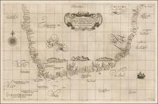 [South Africa] Carta Particolare che Comincia con il Capo Degortam e con il Capo Buona Speranza e Finisce in Gradi 27 di Latitudine Austral By Robert Dudley