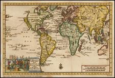 World Map By Pieter van der Aa