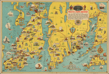 New England Map By H.W. Hetherington