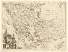 Romania, Balkans, Turkey, Turkey & Asia Minor and Greece Map By Paolo Santini