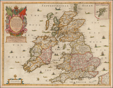 British Isles Map By Richard Blome