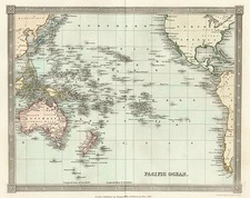World, Australia & Oceania, Pacific and Oceania Map By Thomas Kelly