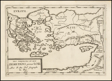 Turkey, Turkey & Asia Minor and Greece Map By Pierre Du Val