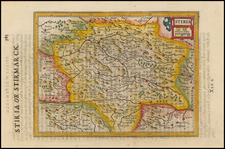 Austria Map By Jodocus Hondius / Samuel Purchas