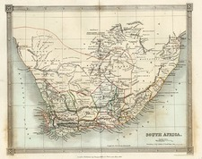 Africa and South Africa Map By Thomas Kelly