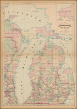 Midwest and Michigan Map By Asher  &  Adams
