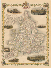 British Isles Map By John Tallis
