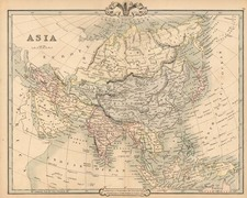 Asia and Asia Map By G.F. Cruchley