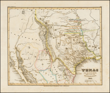 Texas, Plains, Southwest and Rocky Mountains Map By Joseph Meyer