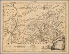 Mid-Atlantic and Pennsylvania Map By Thomas Kitchin
