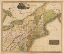 New England and Mid-Atlantic Map By John Thomson
