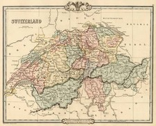 Europe and Switzerland Map By G.F. Cruchley