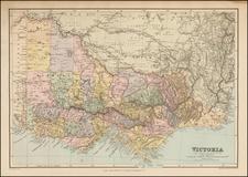 Australia Map By Edward Stanford