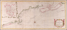 New England and Canada Map By Mount & Page / Cyprian Southack