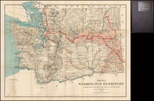 Washington Map By Flemming, Brewster & Alley