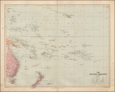 Australia & Oceania, Pacific, Oceania and Other Pacific Islands Map By Edward Stanford