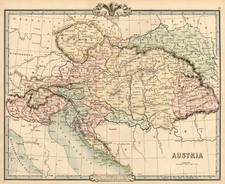 Europe, Austria, Hungary, Romania and Balkans Map By G.F. Cruchley