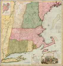 New England Map By Thomas Jefferys / Bradock Mead