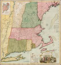 New England Map By Thomas Jefferys / Bradock Mead