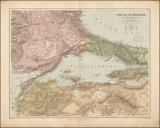 Greece, Turkey and Turkey & Asia Minor Map By Edward Stanford