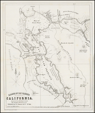 California and San Francisco & Bay Area Map By Joseph W. Revere