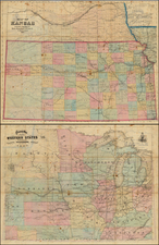 Midwest and Plains Map By Rufus Blanchard