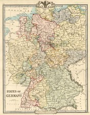 Europe and Germany Map By G.F. Cruchley