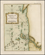 India and Southeast Asia Map By Jacques Nicolas Bellin