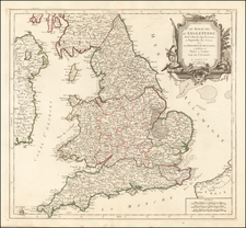 England Map By Giovanni Antonio Remondini