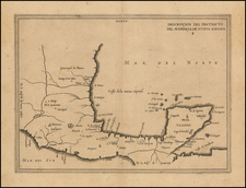 Mexico Map By Antonio de Herrera y Tordesillas
