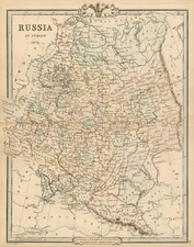Europe and Russia Map By G.F. Cruchley