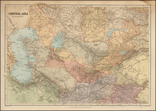 Central Asia & Caucasus Map By Edward Stanford