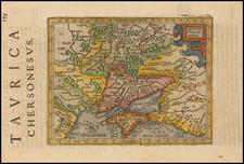 Russia, Ukraine and Russia in Asia Map By Henricus Hondius - Gerhard Mercator