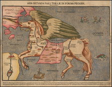 Asia, Asia, Southeast Asia, Curiosities and Comic & Anthropomorphic Map By Heinrich Bunting