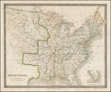 United States Map By Henry Teesdale