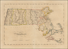 New England Map By Mathew Carey