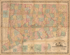 Connecticut Map By Robert Tackabury / George Tackabury / Richard Clark