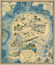Curiosities Map By Henry Jefferson (Heinie) Lawrence
