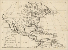 North America Map By Jean-Baptiste Nolin