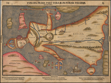 Europe, Europe and Curiosities Map By Heinrich Bunting