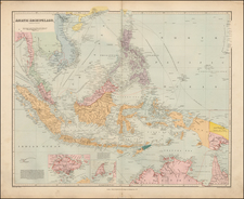 Southeast Asia, Philippines and Other Islands Map By Edward Stanford