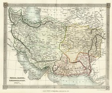 Asia, Central Asia & Caucasus and Middle East Map By Thomas Kelly