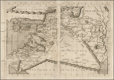 Cyprus, Middle East and Holy Land Map By Francesco Berlinghieri
