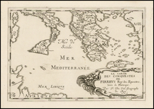 Southern Italy, Greece and Sicily Map By Pierre Du Val
