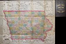 Iowa Map By J. G.  Wells
